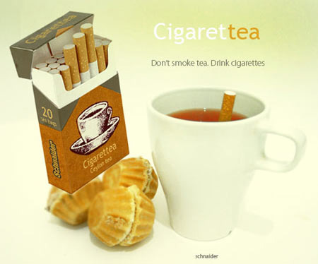 cigarette tea bags